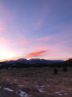 Sunset over Keystone